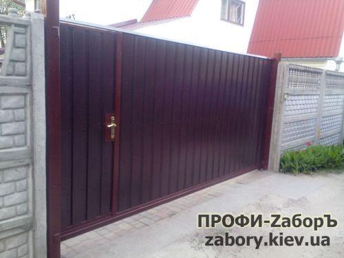 Установка откатных ворот по Украине