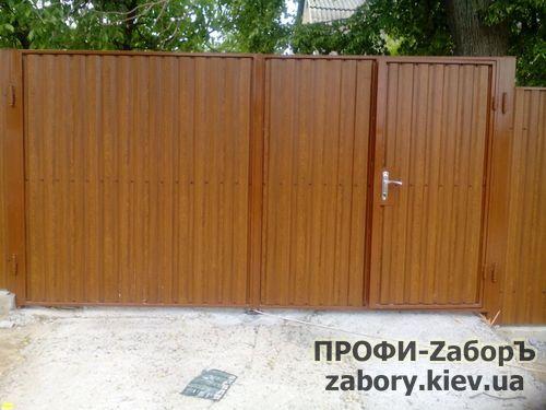 Ворота из профнастила распашные в Киеве