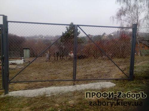 Наши ворота из рабицы цена Киев самая низкая по региону
