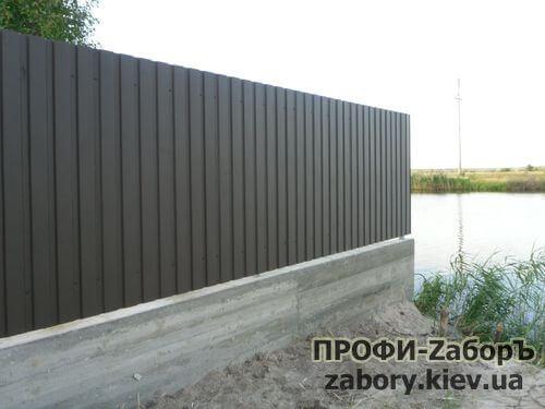 забор из профнастила под ключ Киев цена