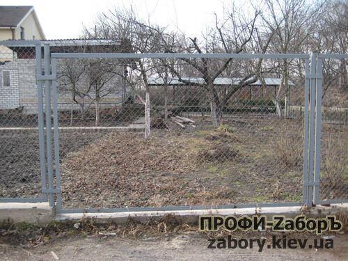 установка забора из сварной сетки Киев