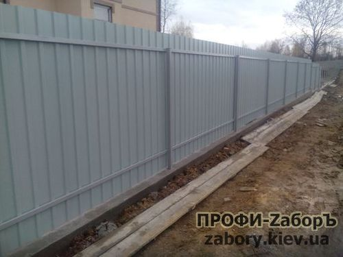 Забор из профнастила в Киеве
